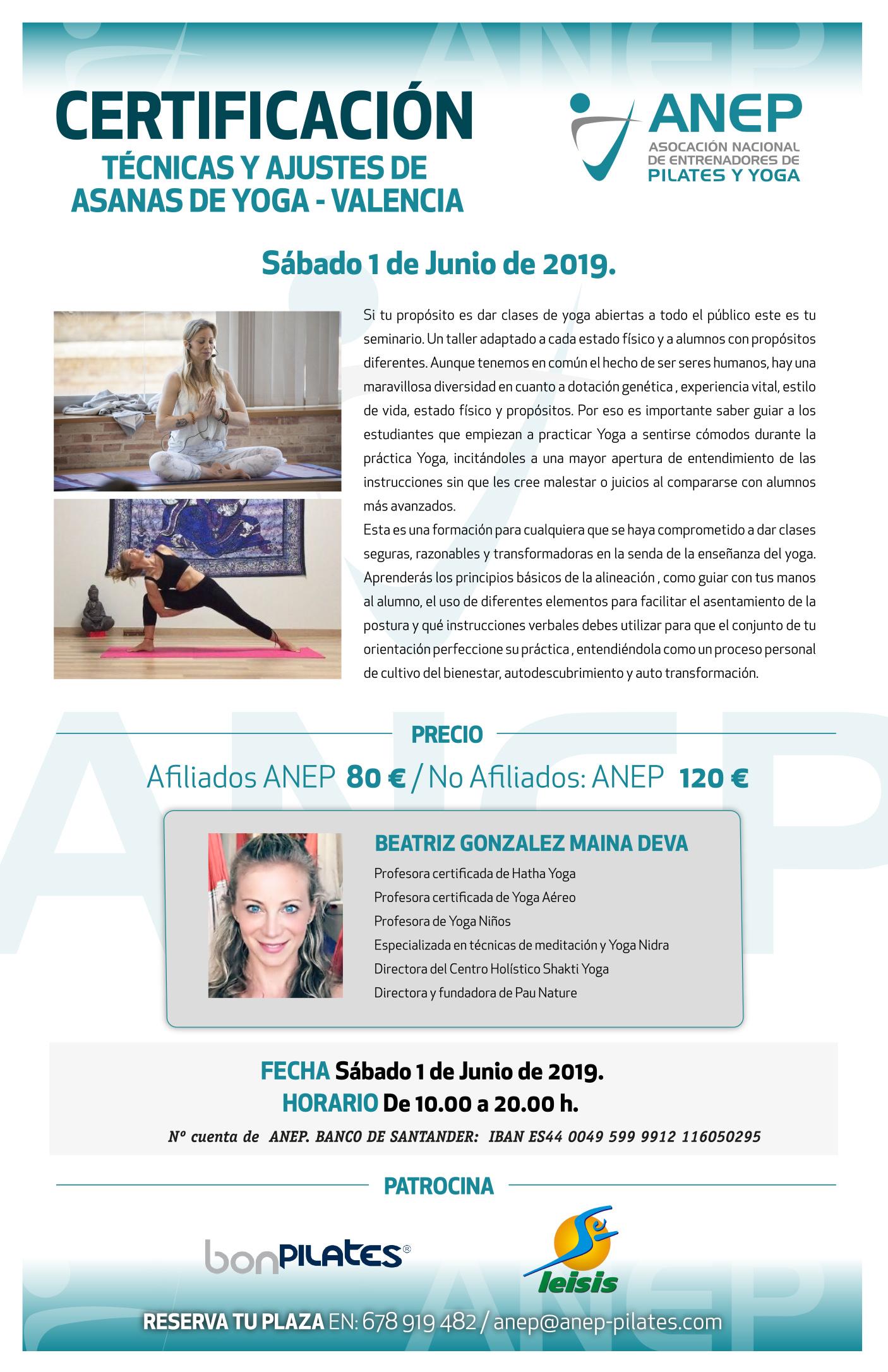Calendario de Actividades de ANEP Pilates y Yoga