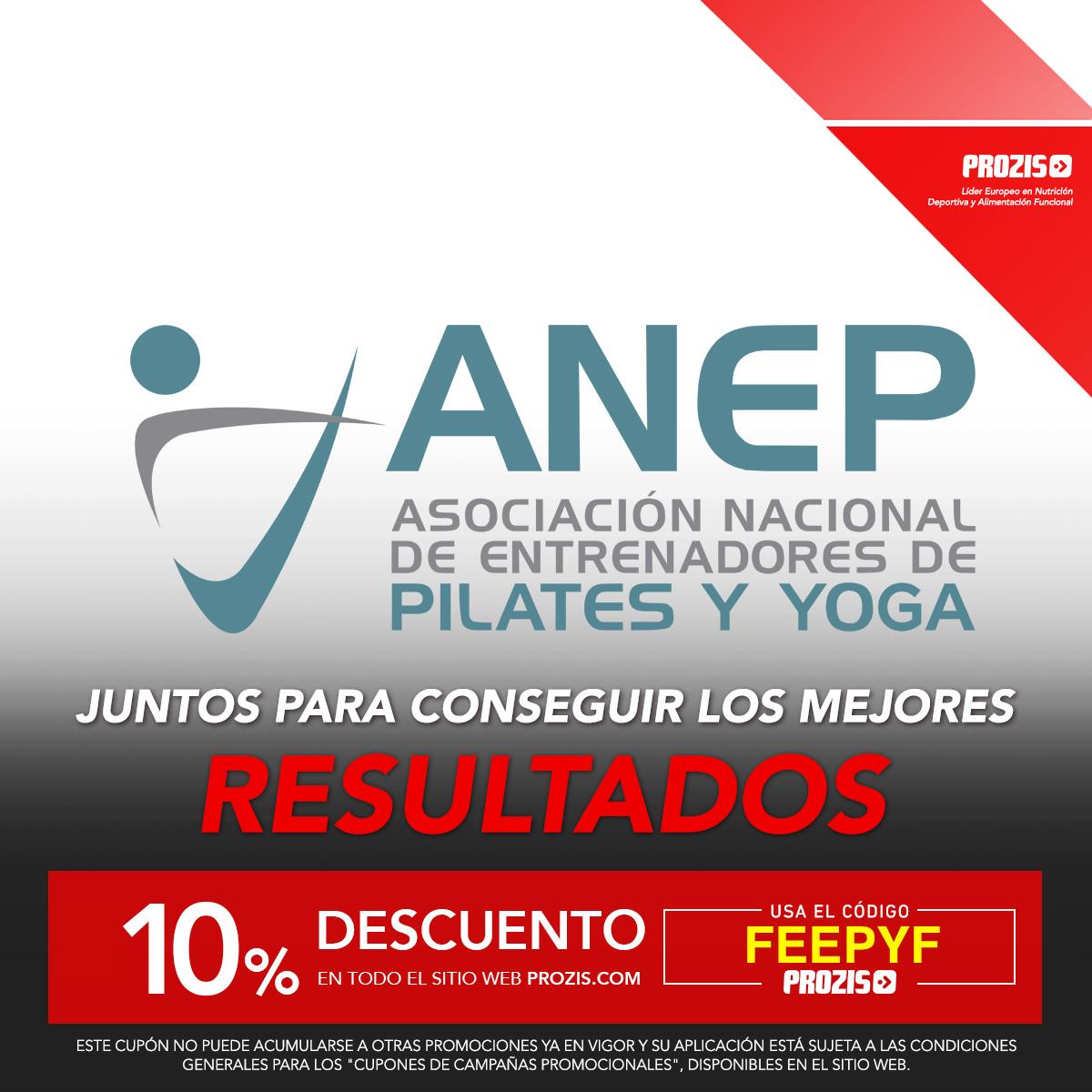 10% de descuento con ANEP Pilates en prozis